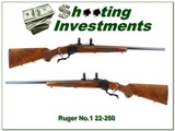 Ruger No.1 V 22-250 Red Pad XX Wood collector!