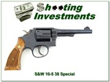 Smith & Wesson Model 10-5 38 Special 5in pinned Exc Collector cond