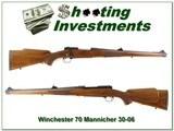Winchester 70 RARE Mannlicher 30-06 Collector! - 1 of 4