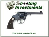 Colt Police Positive 38 S&W 5in 1940 top collector!