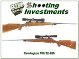 Remington 700 BDL 22-250 with Leupold 1970 pressed checkering