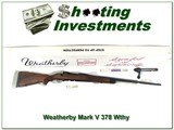 weatherby mark v classic 378 wthy mag new in box!