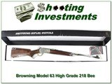browning model 65 high grade 218 bee unfired in box!