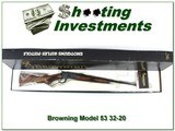 Browning Model 53 Deluxe 32-20 NIB XXX Wood!