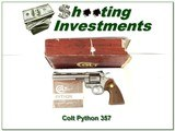 Colt Python 6in Nickle Custom Shop gun collector!
