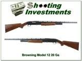 Browning Model 12 20 Gauge nice wood!