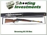 Browning Model 65 218 Bee new and unfired in Box!