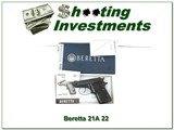 Beretta 21A Bobcat early model 22LR exc cond in box