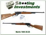 Marlin 1894 CL Classic 25-20 JM 1990 Ducks Unlimited in new condition!
