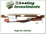 Ruger No.1 222 Rem new, unfired and in the box!