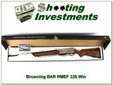 Browning BAR Safari High Grade RMEF 338 Win NIB!