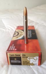 New Federal Cape-ShoK 416 Rem Mag.. 400 grain Trophy Bonded Bear Claw AMMO - 1 of 2