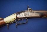 A.P. McDermit Mason Co. West VA. Half Stock Percussion Rifle