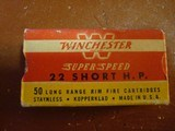 Winchester Super Speed .22 Short Hollow Points. Full of original ammo.