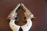 Colt SAA 5 1/2in .45 100% Coverage Cattle Brand Engraved by Bledsoe Consecutive pair - 7 of 10