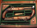 Antique Replication of a 1845 English Dueling Pistol Casted Set (CAV .50 cal. Pistols)