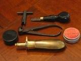 Recreation of an English Antique .44 cal. Screw Barrel Blackpowder Pedersoli Liegi Darringer Pistol Cased Set - 7 of 10