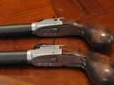 Recreation of an English Antique .44 cal. Screw Barrel Blackpowder Pedersoli Liegi Darringer Pistol Cased Set - 9 of 10