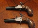 Recreation of an English Antique .44 cal. Screw Barrel Blackpowder Pedersoli Liegi Darringer Pistol Cased Set - 6 of 10