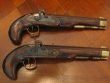 Antique Recreation of a ca.1845 English Gentleman`s .50 cal. Dueling Pistol Cased Set (Traditions) - 4 of 8