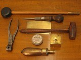 Antique Recreated English Style .50 cal. Black Powder Muzzle Loading Hawken Dueling Pistol Cased Set - 6 of 9