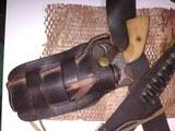 "belgian made, COWBOY RANGER,38sp, & 38lc,with vintage ""Heiser"" belt and holster"
