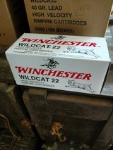 winchester,wildcat .22, high velocity rimfire cartridges