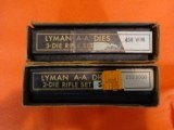 Two sets of vintage Lyman dies,