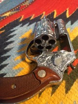 Fully Engraved Smith & Wesson model 60 snub nose - 3 of 6