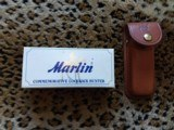 Marlin 125th anniversary Commemorative knife.--- new in original box and leather case-- - 3 of 6