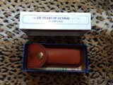 Marlin 125th anniversary Commemorative knife.--- new in original box and leather case--