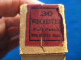 Winchester Model 94 .30 Full Patch 2 pc. Cartridge Box Full circa 1915 - 8 of 12