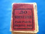 Winchester Model 94 .30 Full Patch 2 pc. Cartridge Box Full circa 1915 - 7 of 12