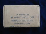 Remington 22 Hornet Cartridge Box Sealed