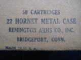 Remington 22 Hornet Cartridge Box Sealed - 7 of 7