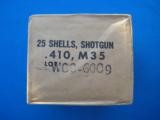 Winchester .410 Cartridge Box Sealed U.S. Military Aluminum Shells #6 Shot - 1 of 8