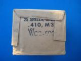 Winchester .410 Cartridge Box Sealed U.S. Military Aluminum Shells #6 Shot - 3 of 8