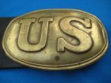 Civil War U.S. Buckle & Belt Original circa 1861 - 11 of 13