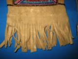 Mandan Sioux Beaded Tobacco Bag circa 1900 Original - 9 of 10