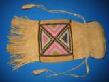 Mandan Sioux Beaded Tobacco Bag circa 1900 Original - 1 of 10