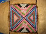 Mandan Sioux Beaded Tobacco Bag circa 1900 Original - 7 of 10