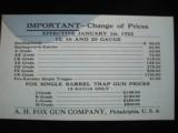 A.H. Fox Shotguns 1922 Original Catalog w/price list - 6 of 15