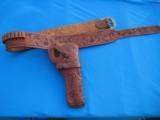 Heiser Tooled Gun Belt & Holster for S&W K38