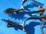 E. Garcia Deluxe Silver Inlaid Spurs circa 1970's - 13 of 13