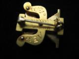 Skull & Bones 14kt Gold Fraternal Pin w/Seed Pearls - 5 of 10
