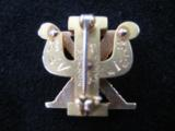 Skull & Bones 14kt Gold Fraternal Pin w/Seed Pearls - 3 of 10