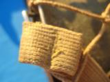 U.S. WW2 Model M1 Combat Helmet Swivel Bail Front Seam w/Netting Unit Marked - 12 of 14