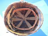U.S. WW2 Model M1 Combat Helmet Swivel Bail Front Seam w/Netting Unit Marked - 7 of 14