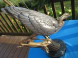 Stalking Great Blue Heron Bronze by Turner Sculpture