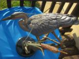 Stalking Great Blue Heron Bronze by Turner SculptureHalf Size - 9 of 11